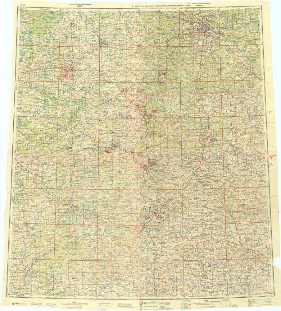 схема огней артиллерии 133 сд на 6 августа 1941 года