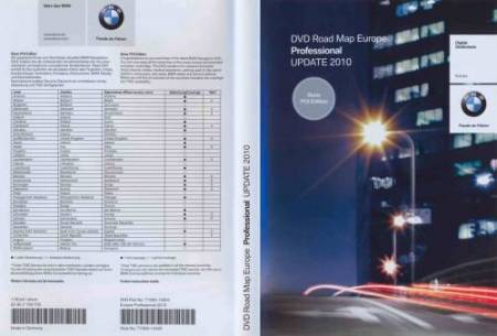 Bmw Dvd Road Map Europe Professional 2010. Basic POI Edition.