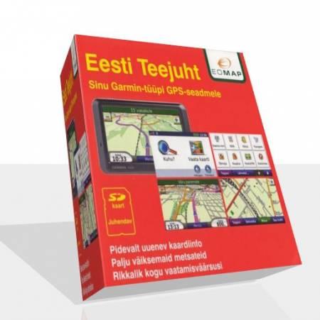 Карта Эстонии EOMAP Eesti Teejuht 2010.1.2