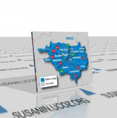 Подробнейшая карта Парижа для Гармин (2011.10)