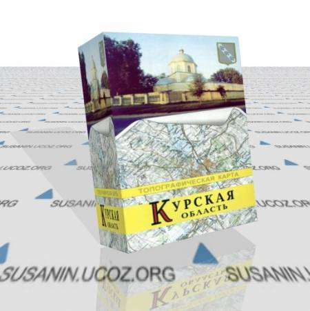 Топографическая карта Курской области