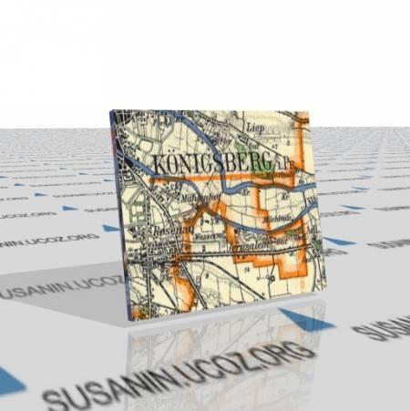 Подборка карт г. Кёнигсберг (Koenigsberg) и окрестностей (1899-1956гг. 25k 50k 100k 300k)